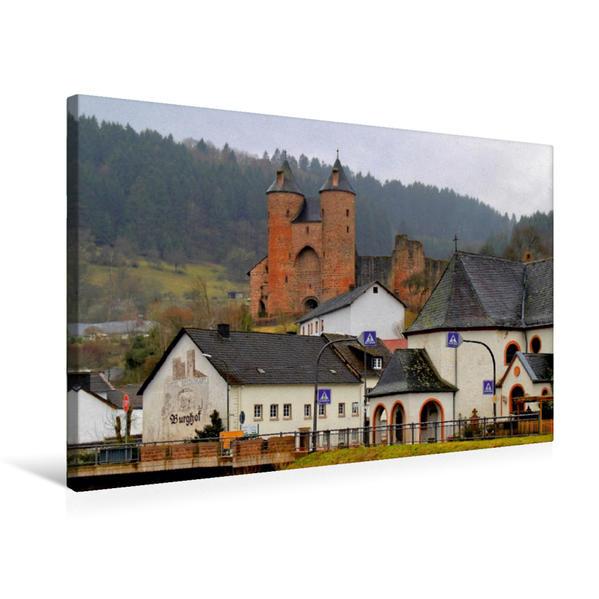 Premium Textil-Leinwand 75 cm x 50 cm quer, Bertradaburg in Mürlenbach | Wandbild, Bild auf Keilrahmen, Fertigbild auf echter Leinwand, Leinwanddruck - Coverbild