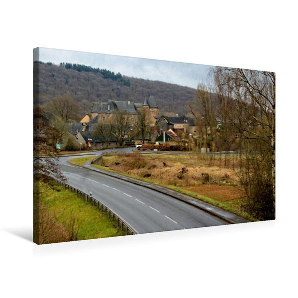 Premium Textil-Leinwand 75 cm x 50 cm quer, Burg Lissingen in Lissingen | Wandbild, Bild auf Keilrahmen, Fertigbild auf echter Leinwand, Leinwanddruck - Coverbild