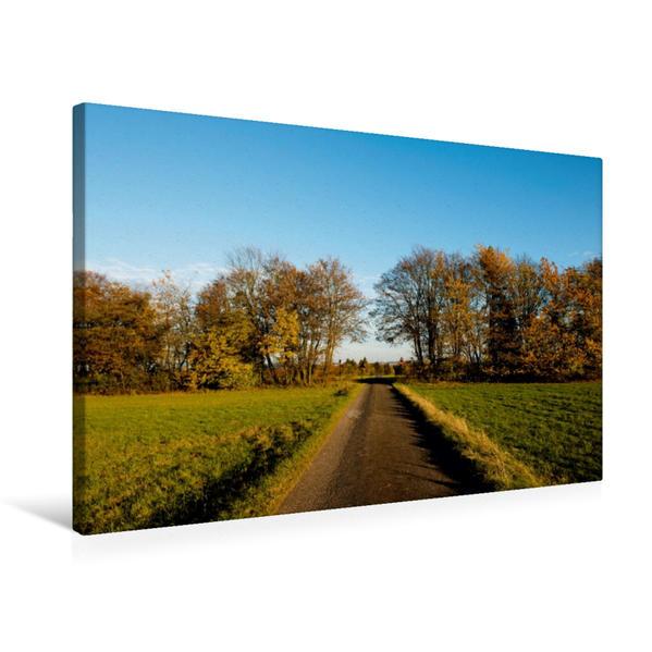 Premium Textil-Leinwand 75 cm x 50 cm quer, Herbstliche Landschaft bei Hellenthal | Wandbild, Bild auf Keilrahmen, Fertigbild auf echter Leinwand, Leinwanddruck - Coverbild