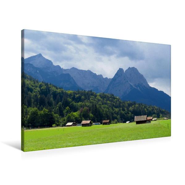 Premium Textil-Leinwand 90 cm x 60 cm quer, Heustadl | Wandbild, Bild auf Keilrahmen, Fertigbild auf echter Leinwand, Leinwanddruck - Coverbild