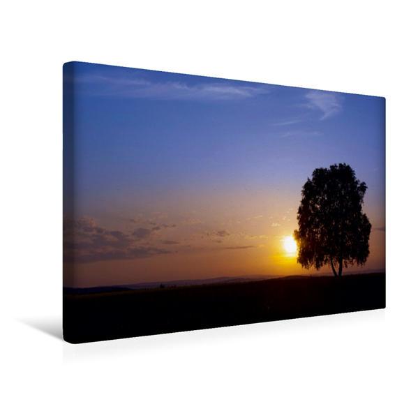 Premium Textil-Leinwand 45 cm x 30 cm quer, Blick in Richtung Bad Camberg | Wandbild, Bild auf Keilrahmen, Fertigbild auf echter Leinwand, Leinwanddruck - Coverbild