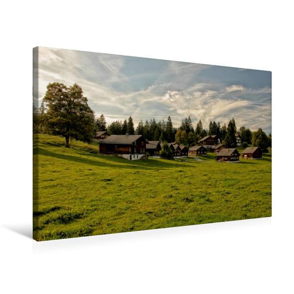 Premium Textil-Leinwand 75 cm x 50 cm quer, Ebnit | Wandbild, Bild auf Keilrahmen, Fertigbild auf echter Leinwand, Leinwanddruck - Coverbild