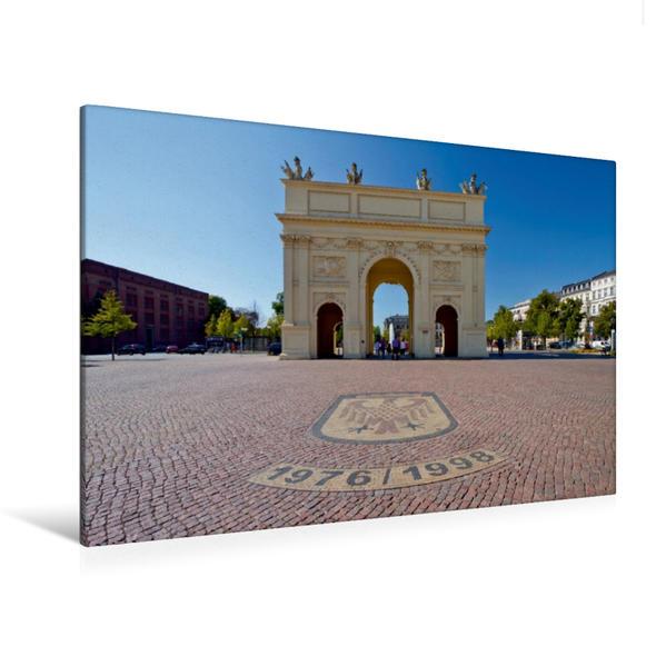 Premium Textil-Leinwand 120 cm x 80 cm quer, POTSDAM Brandenburger Tor | Wandbild, Bild auf Keilrahmen, Fertigbild auf echter Leinwand, Leinwanddruck - Coverbild