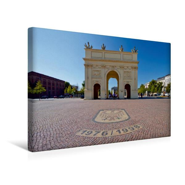 Premium Textil-Leinwand 45 cm x 30 cm quer, POTSDAM Brandenburger Tor   Wandbild, Bild auf Keilrahmen, Fertigbild auf echter Leinwand, Leinwanddruck - Coverbild