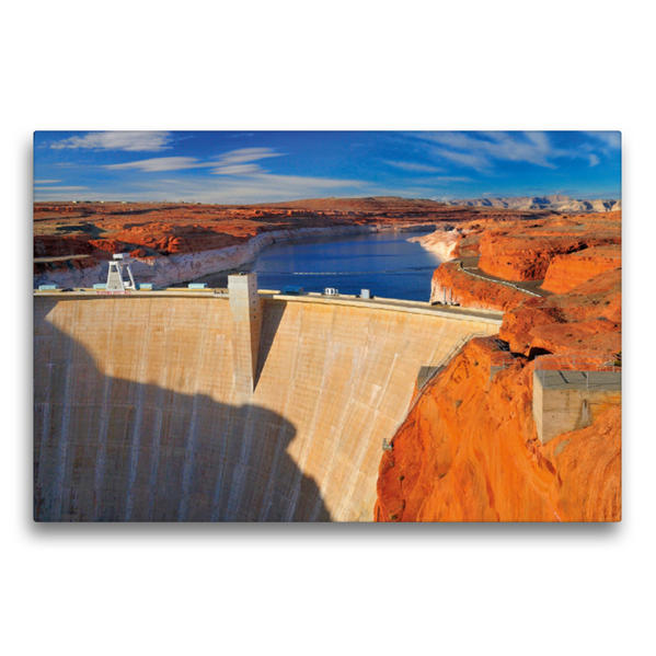Premium Textil-Leinwand 75 cm x 50 cm quer, Glen Canyon Dam   Wandbild, Bild auf Keilrahmen, Fertigbild auf echter Leinwand, Leinwanddruck - Coverbild