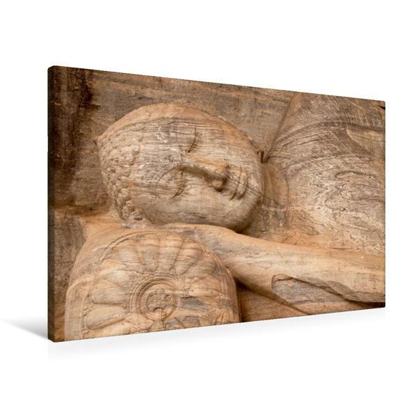 Premium Textil-Leinwand 90 cm x 60 cm quer, Liegender Buddha, Gal Vihara, Polonnaruwa, Sri Lanka   Wandbild, Bild auf Keilrahmen, Fertigbild auf echter Leinwand, Leinwanddruck - Coverbild