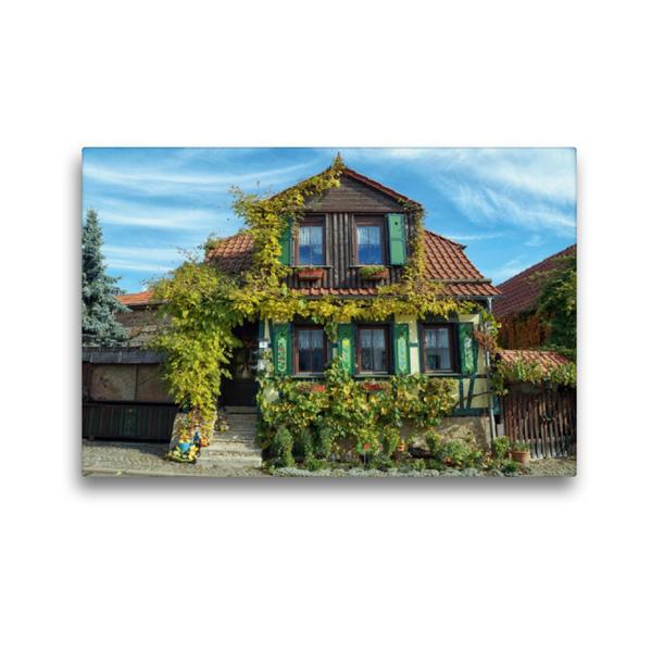 Premium Textil-Leinwand 45 cm x 30 cm quer, Thüringens Tonndorf | Wandbild, Bild auf Keilrahmen, Fertigbild auf echter Leinwand, Leinwanddruck - Coverbild