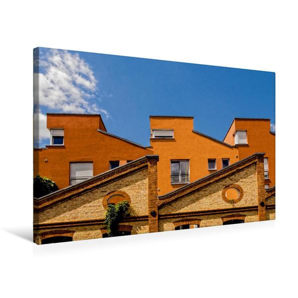 Premium Textil-Leinwand 75 cm x 50 cm quer, Rohrbach - Quartier am Wasserturm | Wandbild, Bild auf Keilrahmen, Fertigbild auf echter Leinwand, Leinwanddruck - Coverbild