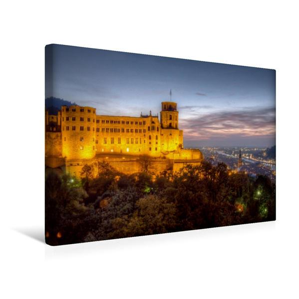 Premium Textil-Leinwand 45 cm x 30 cm quer, Altstadt - Schloss im Abendlicht | Wandbild, Bild auf Keilrahmen, Fertigbild auf echter Leinwand, Leinwanddruck - Coverbild