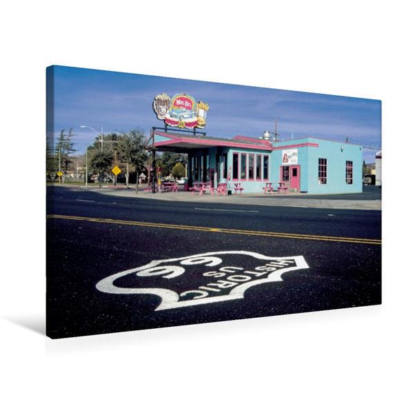 Premium Textil-Leinwand 75 cm x 50 cm quer, Mr. D'z, Route 66 Diner, Kingman, Arizona   Wandbild, Bild auf Keilrahmen, Fertigbild auf echter Leinwand, Leinwanddruck - Coverbild
