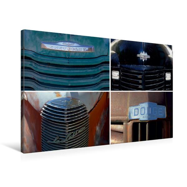 Premium Textil-Leinwand 75 cm x 50 cm quer, Fronten (Chevrolet, International, Cadillac LaSalle, Dodge) | Wandbild, Bild auf Keilrahmen, Fertigbild auf echter Leinwand, Leinwanddruck - Coverbild