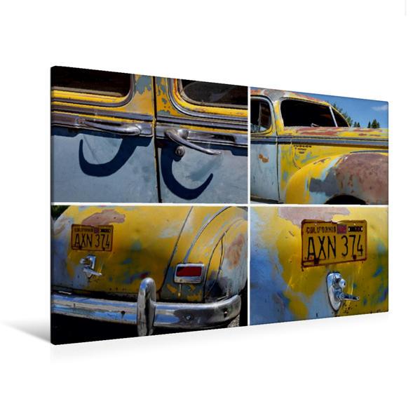 Premium Textil-Leinwand 120 cm x 80 cm quer, Hudson Commodore Eight, Bj. 1947, Dorris, Kalifornien, USA | Wandbild, Bild auf Keilrahmen, Fertigbild auf echter Leinwand, Leinwanddruck - Coverbild