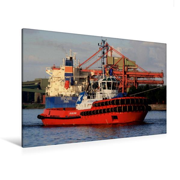 Premium Textil-Leinwand 120 cm x 80 cm quer, Schlepper SD DOLPHIN | Wandbild, Bild auf Keilrahmen, Fertigbild auf echter Leinwand, Leinwanddruck - Coverbild