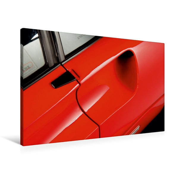 Premium Textil-Leinwand 90 cm x 60 cm quer, Ein Motiv aus dem Kalender Ferrari 288 GTO | Wandbild, Bild auf Keilrahmen, Fertigbild auf echter Leinwand, Leinwanddruck - Coverbild