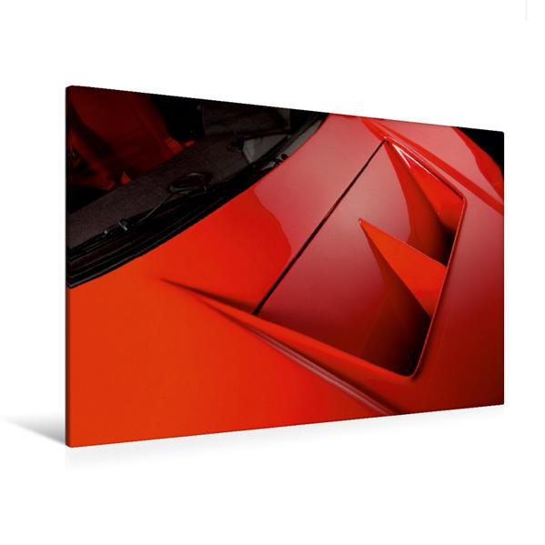 Premium Textil-Leinwand 120 cm x 80 cm quer, Ferrari F 40 LM   Wandbild, Bild auf Keilrahmen, Fertigbild auf echter Leinwand, Leinwanddruck - Coverbild