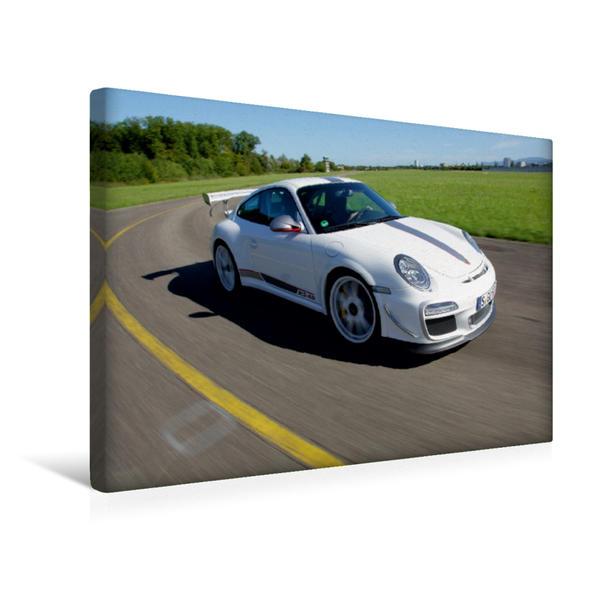 Premium Textil-Leinwand 45 cm x 30 cm quer, Ein Motiv aus dem Kalender Porsche GT3RS 4,0 | Wandbild, Bild auf Keilrahmen, Fertigbild auf echter Leinwand, Leinwanddruck - Coverbild