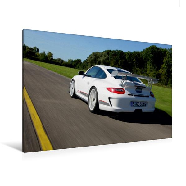 Premium Textil-Leinwand 120 cm x 80 cm quer, Ein Motiv aus dem Kalender Porsche GT3RS 4,0 | Wandbild, Bild auf Keilrahmen, Fertigbild auf echter Leinwand, Leinwanddruck - Coverbild