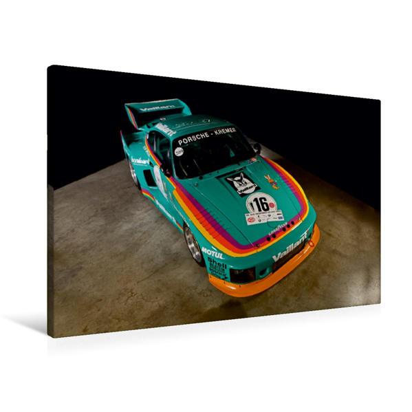 Premium Textil-Leinwand 90 cm x 60 cm quer, Ein Motiv aus dem Kalender Racing Legend: The Porsche 635 K2 | Wandbild, Bild auf Keilrahmen, Fertigbild auf echter Leinwand, Leinwanddruck - Coverbild