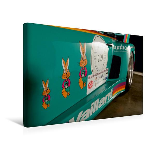 Premium Textil-Leinwand 45 cm x 30 cm quer, Ein Motiv aus dem Kalender Racing Legend: The Porsche 635 K2 | Wandbild, Bild auf Keilrahmen, Fertigbild auf echter Leinwand, Leinwanddruck - Coverbild