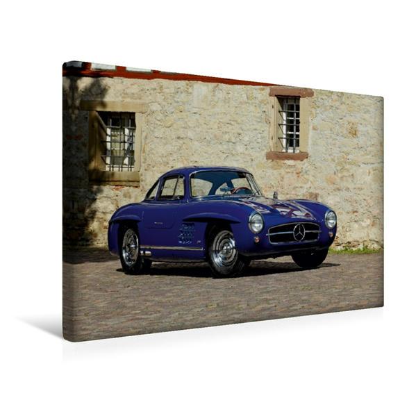 Premium Textil-Leinwand 45 cm x 30 cm quer, Mercedes 300 SL Aluminium | Wandbild, Bild auf Keilrahmen, Fertigbild auf echter Leinwand, Leinwanddruck - Coverbild
