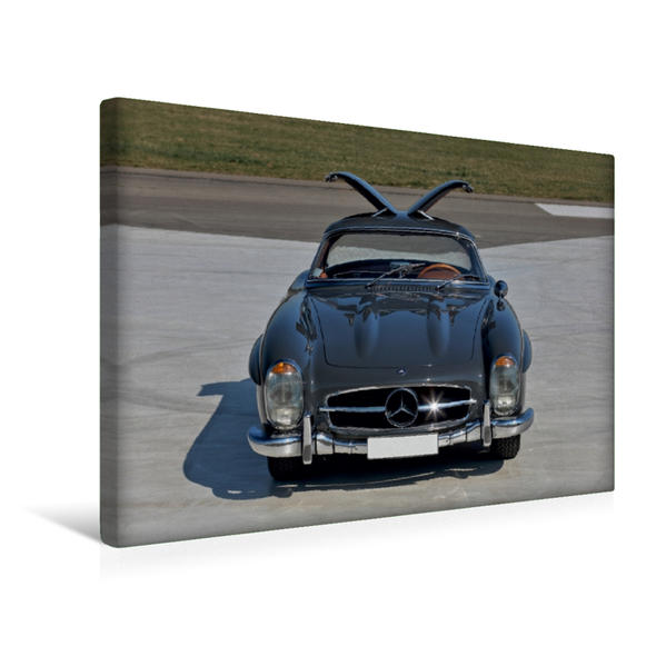 Premium Textil-Leinwand 45 cm x 30 cm quer, Mercedes 300 SL Hardtop Flügeltürer | Wandbild, Bild auf Keilrahmen, Fertigbild auf echter Leinwand, Leinwanddruck - Coverbild