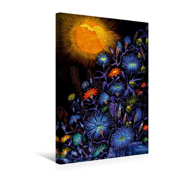 Premium Textil-Leinwand 30 cm x 45 cm hoch, Kornblumen | Wandbild, Bild auf Keilrahmen, Fertigbild auf echter Leinwand, Leinwanddruck - Coverbild