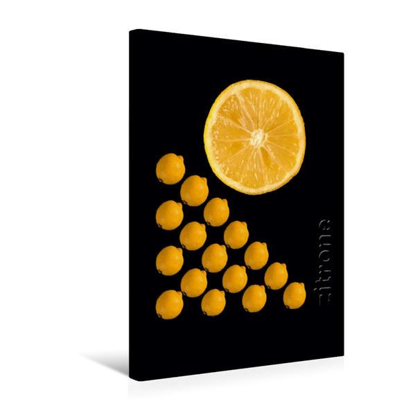 Premium Textil-Leinwand 30 cm x 45 cm hoch, foodART - Zitrone | Wandbild, Bild auf Keilrahmen, Fertigbild auf echter Leinwand, Leinwanddruck - Coverbild
