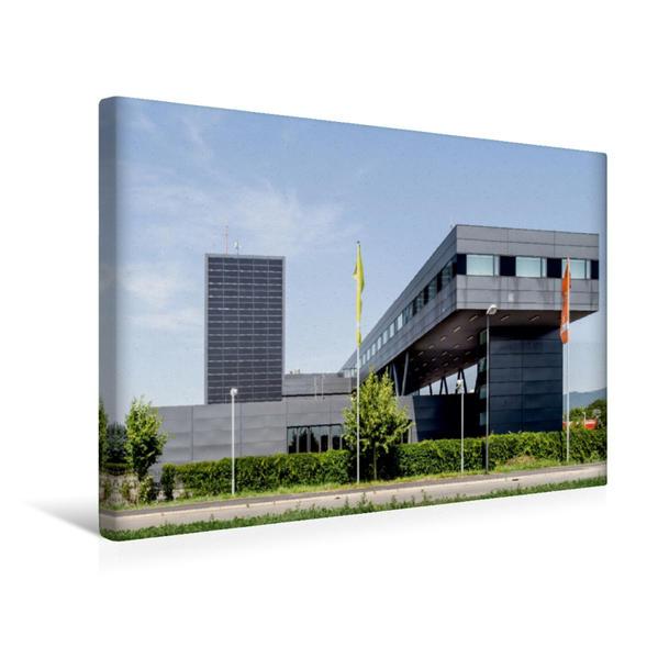 Premium Textil-Leinwand 45 cm x 30 cm quer, Heidelberg - Hauptfeuerwache, Bahnstadt | Wandbild, Bild auf Keilrahmen, Fertigbild auf echter Leinwand, Leinwanddruck - Coverbild