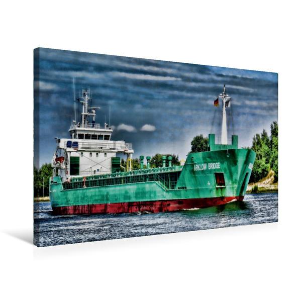 Premium Textil-Leinwand 75 cm x 50 cm quer, Arklow Bridge   Wandbild, Bild auf Keilrahmen, Fertigbild auf echter Leinwand, Leinwanddruck - Coverbild