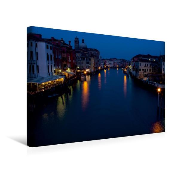 Premium Textil-Leinwand 45 cm x 30 cm quer, Blick von der Rialtobrücke | Wandbild, Bild auf Keilrahmen, Fertigbild auf echter Leinwand, Leinwanddruck - Coverbild