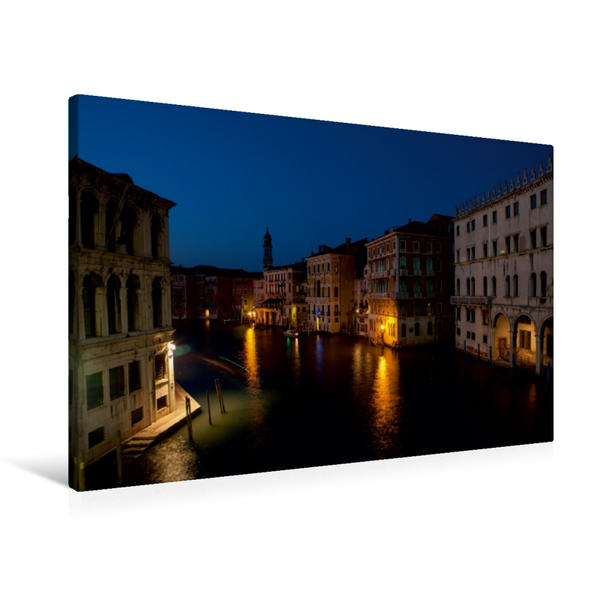 Premium Textil-Leinwand 90 cm x 60 cm quer, Canal Grande | Wandbild, Bild auf Keilrahmen, Fertigbild auf echter Leinwand, Leinwanddruck - Coverbild