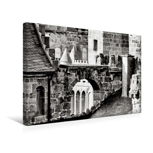 Premium Textil-Leinwand 45 cm x 30 cm quer, Löwenburg | Wandbild, Bild auf Keilrahmen, Fertigbild auf echter Leinwand, Leinwanddruck - Coverbild