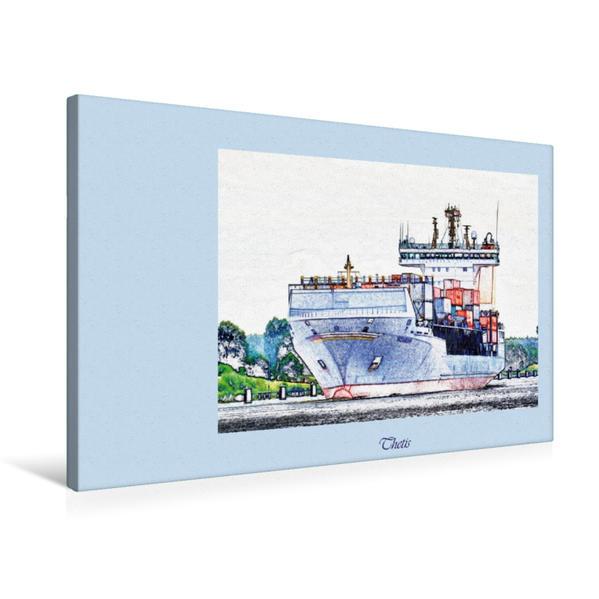 Premium Textil-Leinwand 75 cm x 50 cm quer, Thetis   Wandbild, Bild auf Keilrahmen, Fertigbild auf echter Leinwand, Leinwanddruck - Coverbild