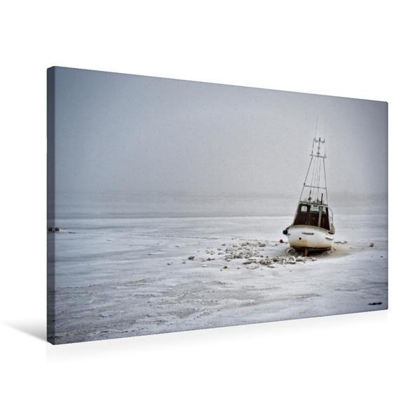 Premium Textil-Leinwand 75 cm x 50 cm quer, fest gefroren | Wandbild, Bild auf Keilrahmen, Fertigbild auf echter Leinwand, Leinwanddruck - Coverbild