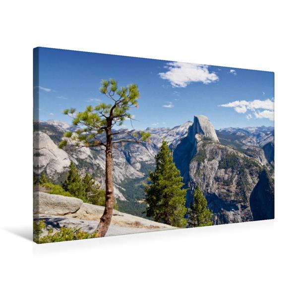 Premium Textil-Leinwand 75 cm x 50 cm quer, KALIFORNIEN Yosemite Valley   Wandbild, Bild auf Keilrahmen, Fertigbild auf echter Leinwand, Leinwanddruck - Coverbild