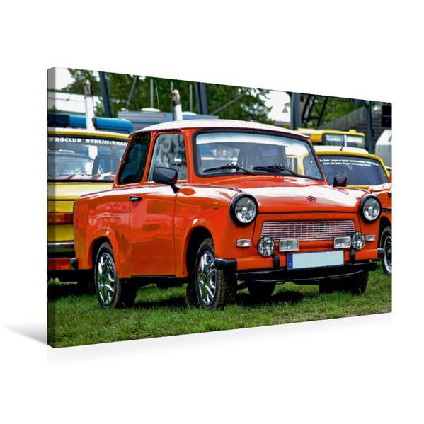 Premium Textil-Leinwand 75 cm x 50 cm quer, Trabant 601 | Wandbild, Bild auf Keilrahmen, Fertigbild auf echter Leinwand, Leinwanddruck - Coverbild