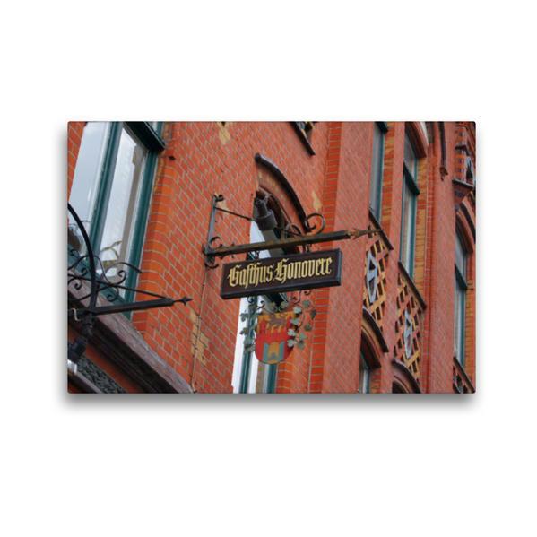 Premium Textil-Leinwand 45 cm x 30 cm quer, Gasthaus Hannovere | Wandbild, Bild auf Keilrahmen, Fertigbild auf echter Leinwand, Leinwanddruck - Coverbild
