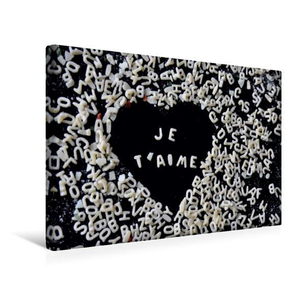 Premium Textil-Leinwand 45 cm x 30 cm quer, Buchstäblich Liebe | Wandbild, Bild auf Keilrahmen, Fertigbild auf echter Leinwand, Leinwanddruck - Coverbild