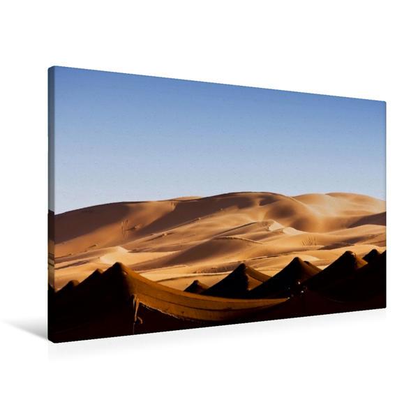 Premium Textil-Leinwand 90 cm x 60 cm quer, Wüstenlandschaft | Wandbild, Bild auf Keilrahmen, Fertigbild auf echter Leinwand, Leinwanddruck - Coverbild