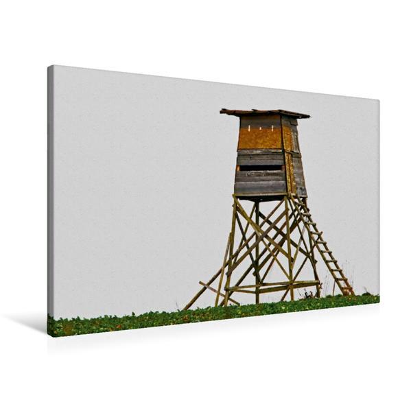 Premium Textil-Leinwand 90 cm x 60 cm quer, HochsitzZEIT 1 | Wandbild, Bild auf Keilrahmen, Fertigbild auf echter Leinwand, Leinwanddruck - Coverbild