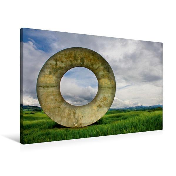 Premium Textil-Leinwand 90 cm x 60 cm quer, Kunst auf dem Land | Wandbild, Bild auf Keilrahmen, Fertigbild auf echter Leinwand, Leinwanddruck - Coverbild