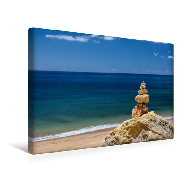 Premium Textil-Leinwand 45 cm x 30 cm quer, Campismo - Portugal Algarve | Wandbild, Bild auf Keilrahmen, Fertigbild auf echter Leinwand, Leinwanddruck - Coverbild
