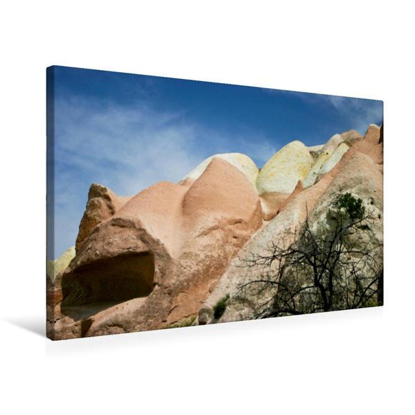 Premium Textil-Leinwand 75 cm x 50 cm quer, Ein Motiv aus dem Kalender Kappadokien - Landschaften der Extreme   Wandbild, Bild auf Keilrahmen, Fertigbild auf echter Leinwand, Leinwanddruck - Coverbild