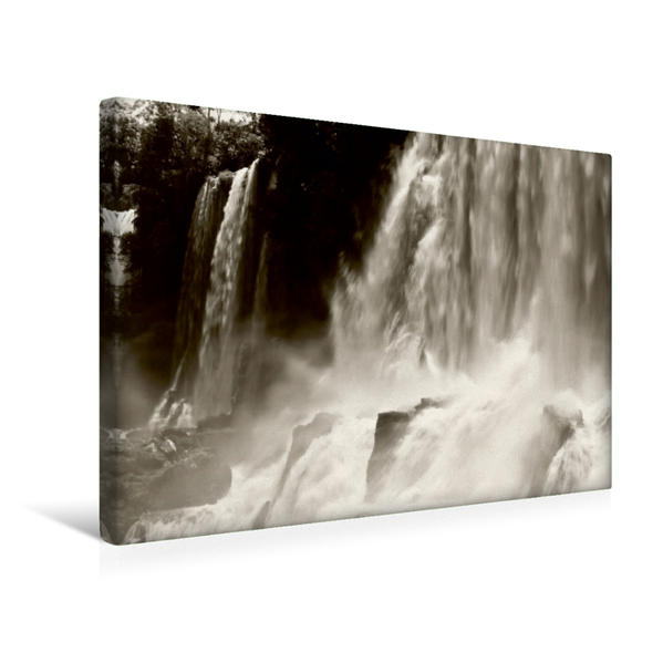 Premium Textil-Leinwand 45 cm x 30 cm quer, Ein Motiv aus dem Kalender Naturerbe Iguazú | Wandbild, Bild auf Keilrahmen, Fertigbild auf echter Leinwand, Leinwanddruck - Coverbild
