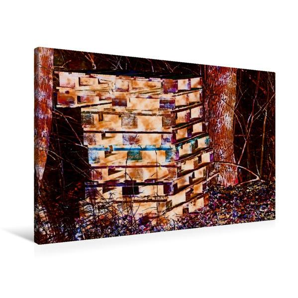 Premium Textil-Leinwand 90 cm x 60 cm quer, Komm mit mir aufs Land - bunte Eindrücke von Ulrike SSK 4   Wandbild, Bild auf Keilrahmen, Fertigbild auf echter Leinwand, Leinwanddruck - Coverbild