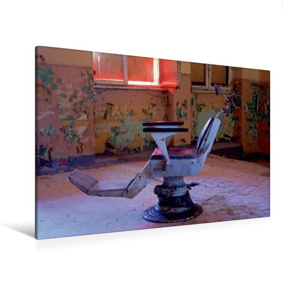 Premium Textil-Leinwand 120 cm x 80 cm quer, Hört ihr den Bohrer? | Wandbild, Bild auf Keilrahmen, Fertigbild auf echter Leinwand, Leinwanddruck - Coverbild