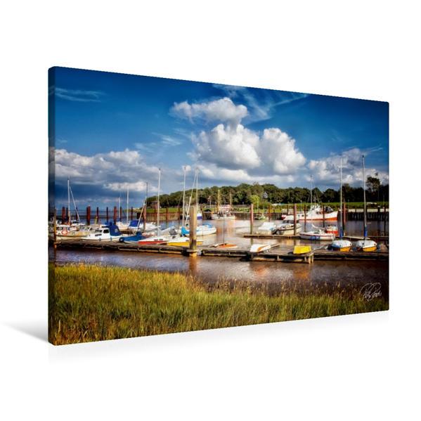 Premium Textil-Leinwand 90 cm x 60 cm quer, Dangast an der Nordsee | Wandbild, Bild auf Keilrahmen, Fertigbild auf echter Leinwand, Leinwanddruck - Coverbild