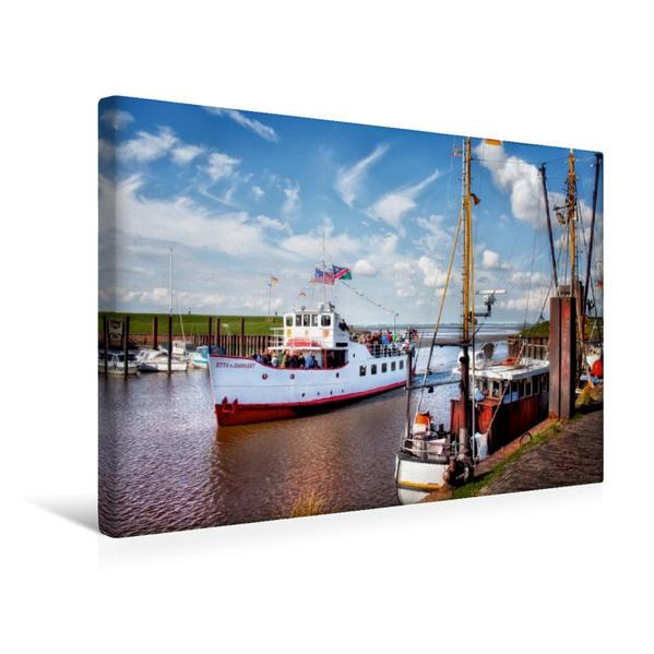 Premium Textil-Leinwand 45 cm x 30 cm quer, Dangast an der Nordsee | Wandbild, Bild auf Keilrahmen, Fertigbild auf echter Leinwand, Leinwanddruck - Coverbild