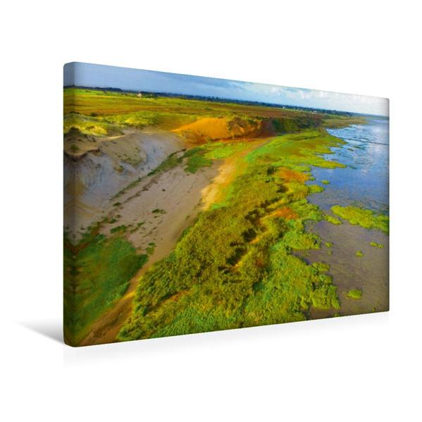 Premium Textil-Leinwand 45 cm x 30 cm quer, Morsum - Kliff | Wandbild, Bild auf Keilrahmen, Fertigbild auf echter Leinwand, Leinwanddruck - Coverbild