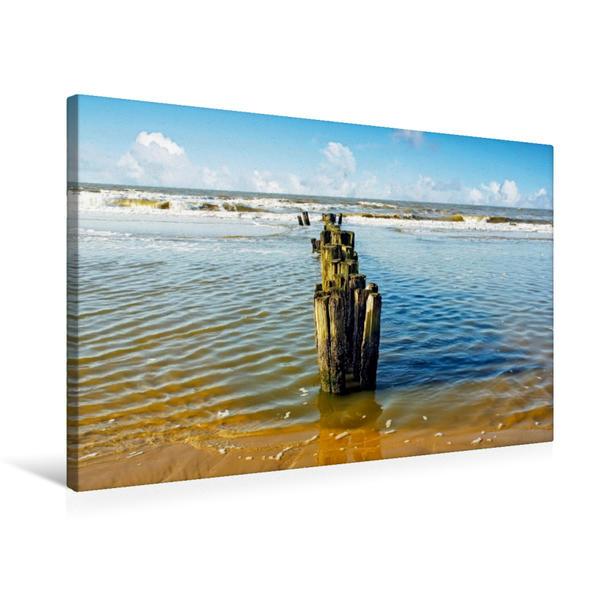 Premium Textil-Leinwand 75 cm x 50 cm quer, Ostfriesland - an der Nordsee | Wandbild, Bild auf Keilrahmen, Fertigbild auf echter Leinwand, Leinwanddruck - Coverbild
